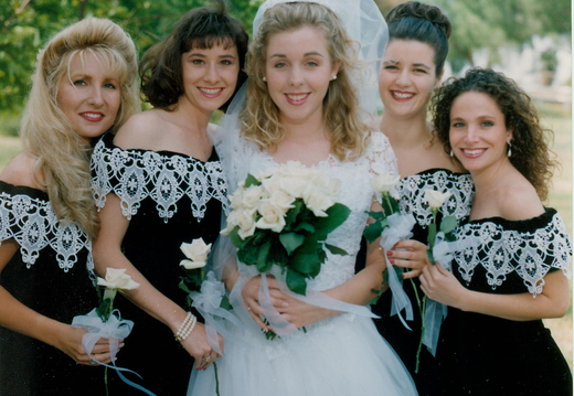 Kim's bridesmaids (from left to right): Denise Gealy, Lori Sadler, Andrea Noblione, Stephanie Fightlin