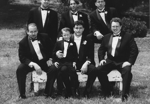 My groomsmen (From top left to bottom right): Brandon Webster, Lance Jacobs, Randy Wilson, Sean Henry, Brian Gealy, me, and Rich