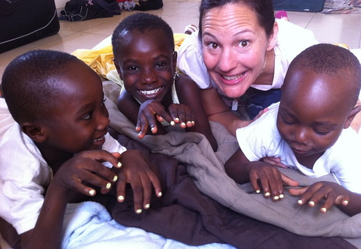 our kids with erin in ghana