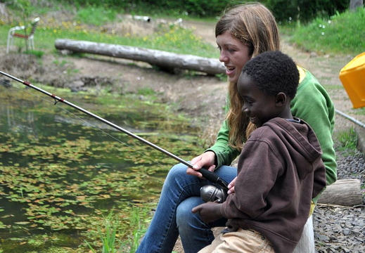 zion and caitlin fishing