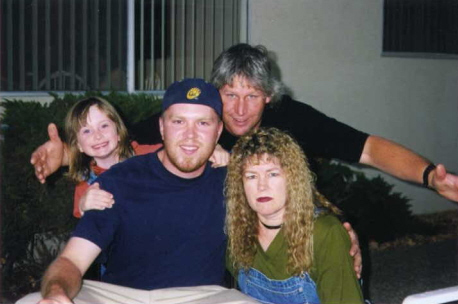 my mom, brother, sister and dave