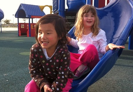 hope and hannah at park