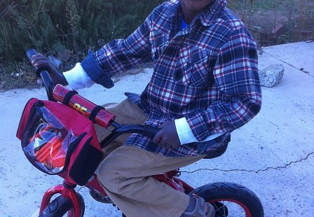 zion first christmas new bike!